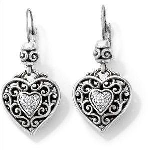 Brighton Leverback Heart Earrings